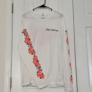 White w/Roses The Maine Band T-shirt